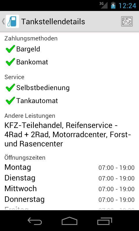 Wo tanken?- screenshot