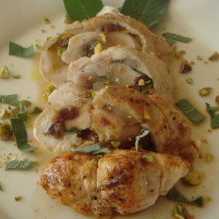 Stuffed Chicken Breast with Figs and Pistachios Vinaigrette - Pollo farcíto com fichi e pistacchi.