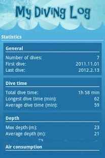 My Diving log - screenshot thumbnail