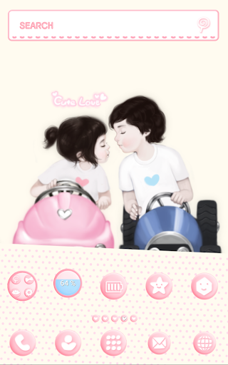 Cute love girl dodol theme