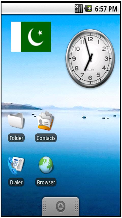Pakistan Flag Sticker Widget - screenshot