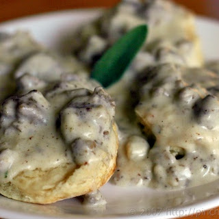 Biscuits with Sausage and Sage Gravy