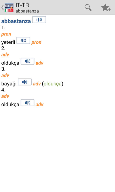Italian<>Turkish Gem Dictionar - screenshot
