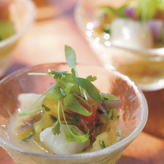 Bay Scallop and Tomato Ceviche with Key Lime.