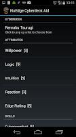 Screenshot of Shadowrun Cyberdeck Aid