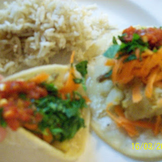 Miniature Yellow Curry Potato Taco Snack