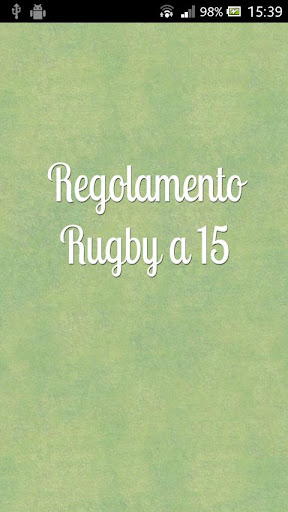 Rugby a 15