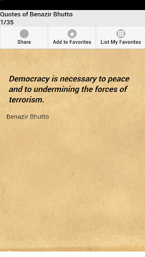 Quotes of Benazir Bhutto