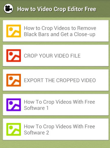 How to Crop Video Movie