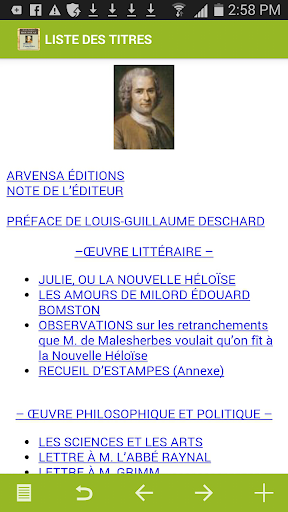 Rousseau : Oeuvres
