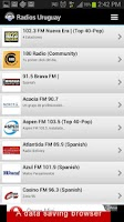 Screenshot of Radios Uruguay