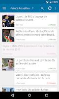 Screenshot of France Actualités