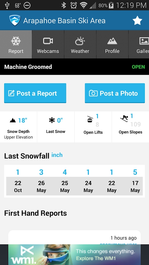 OnTheSnow Ski & Snow Report - screenshot