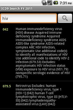 ICD-9 Medical Code Search FY11 APK screenshot thumbnail 2