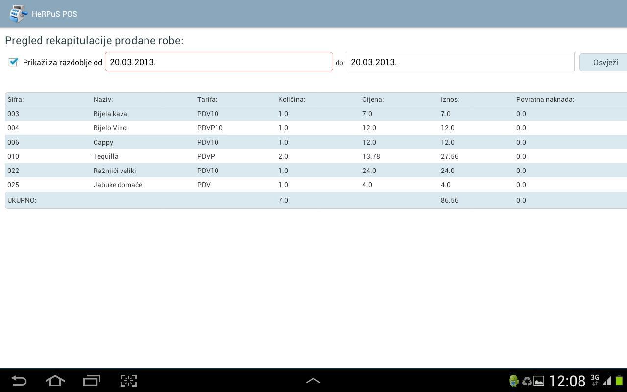 HeRPuS mPOS- screenshot
