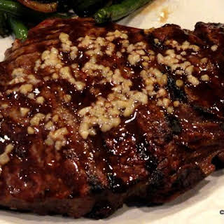 Extreme Garlic Grilled Sirloin Steak.