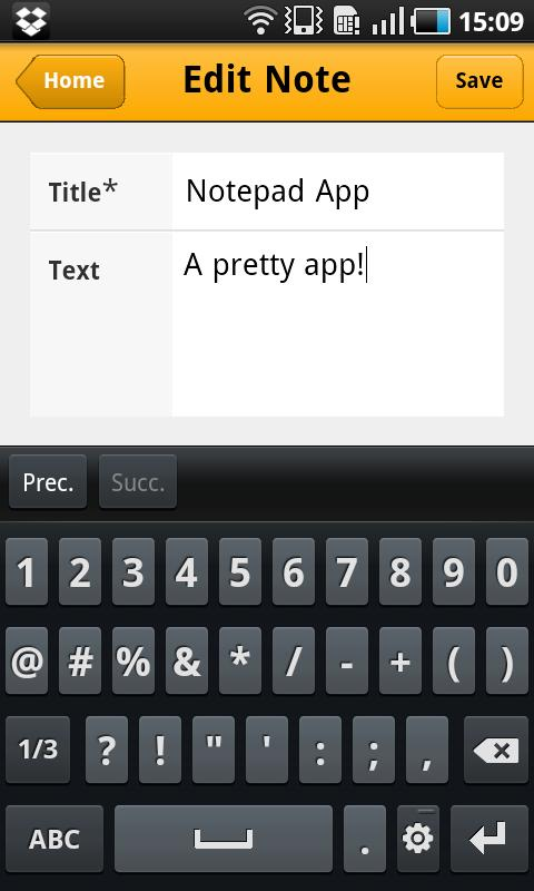 AG Notepad- screenshot