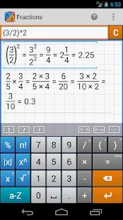 Fraction Calculator MathlabPRO - screenshot thumbnail