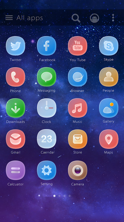 Ground Glass GO Launcher Theme- screenshot