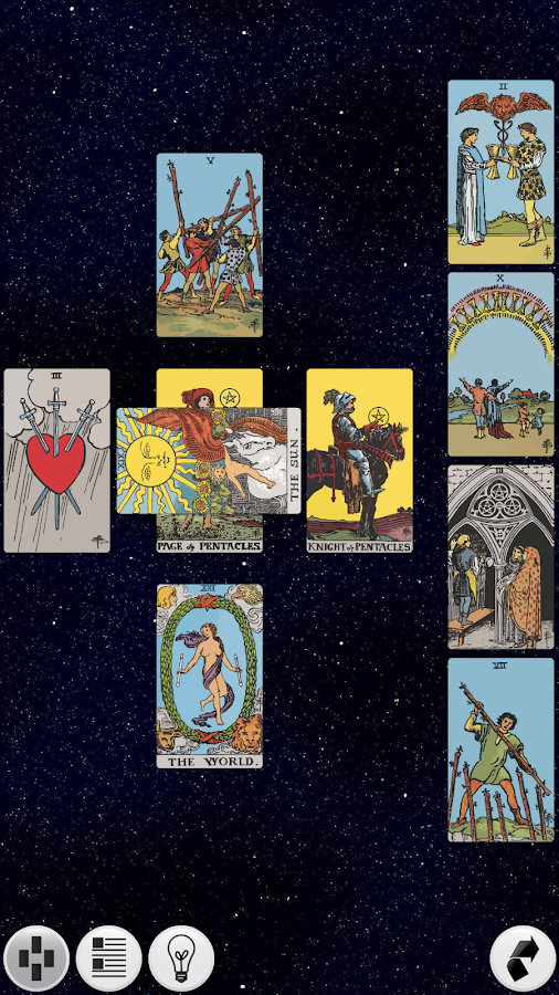 Galaxy Tarot Pro - screenshot