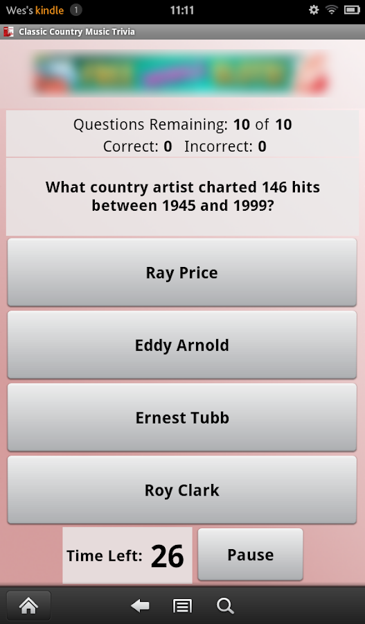 Classic Country Music Trivia- screenshot