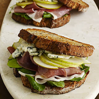 Prosciutto, Pear, and Blue Cheese Sandwiches.