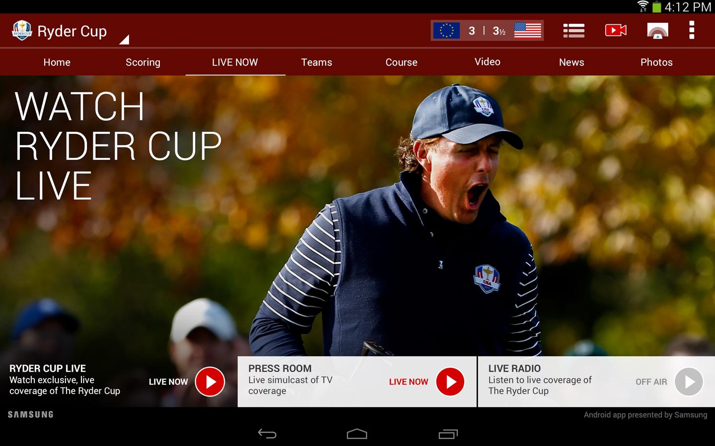 2014 Ryder Cup - screenshot