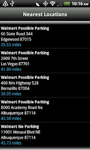 Walmart Overnight Parking - screenshot thumbnail
