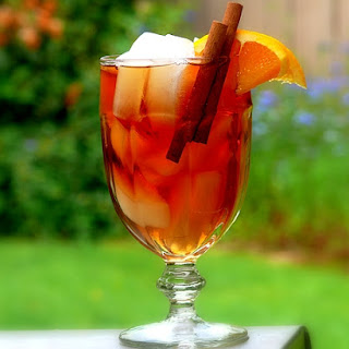 Kuwaiti Cinnamon-Orange Iced Tea.