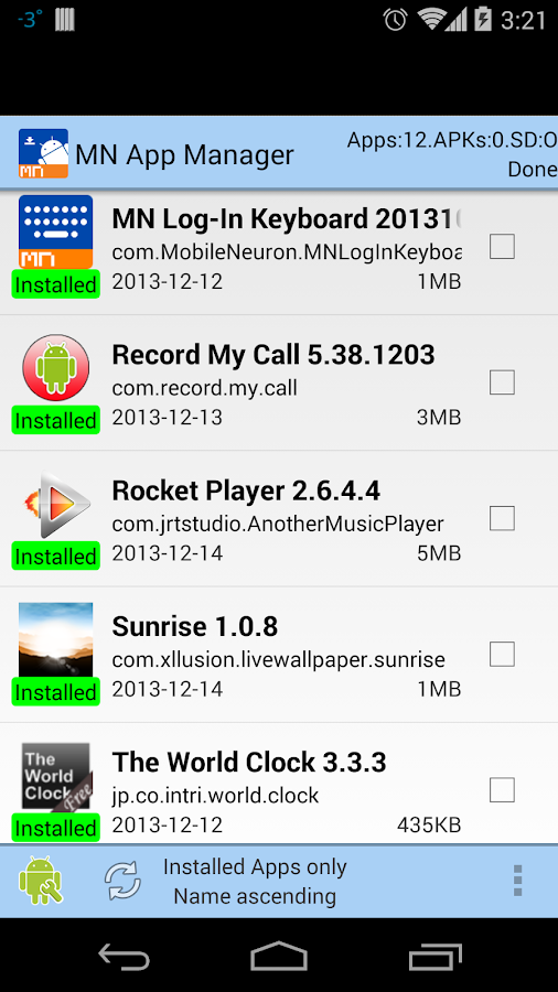 App Manager-copy/backup/send - screenshot