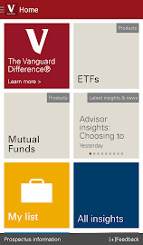 Vanguard for Advisors Screenshot 1