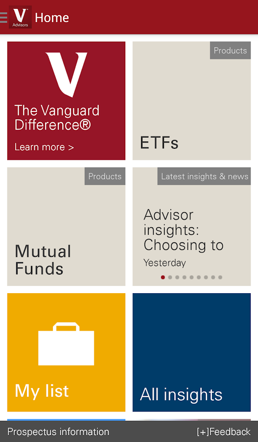 Vanguard for Advisors- screenshot