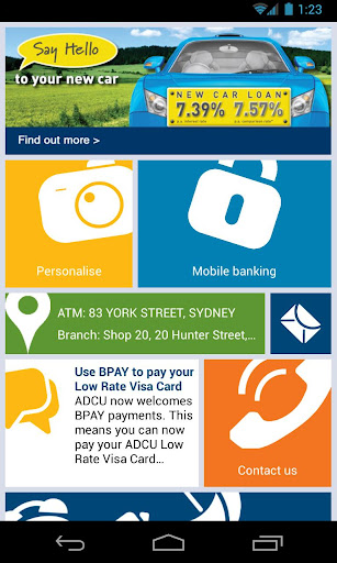 ADCU on-the-go banking app