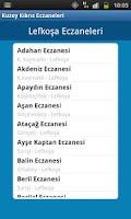 Screenshot of Kuzey Kıbrıs Eczaneler