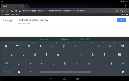 Приложение Android L Keyboard для планшетов на Android