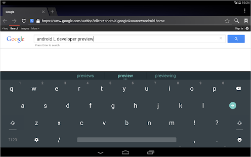 Android L Keyboard - screenshot thumbnail