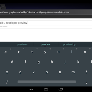 Download Android L Keyboard 3.1.20009 APK