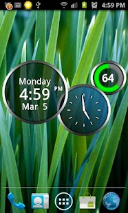Rings Digital Weather Clock - screenshot thumbnail