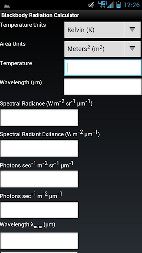 Blackbody Radiation Calculator