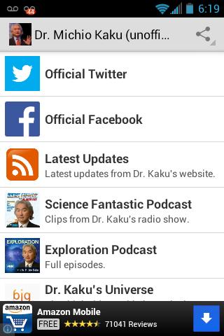 Dr. Michio Kaku Fan App