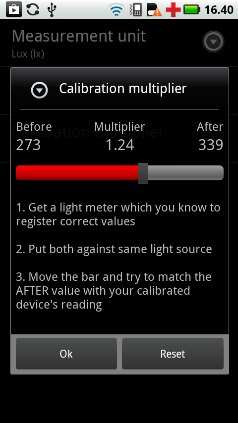 Lux Meter – screenshot
