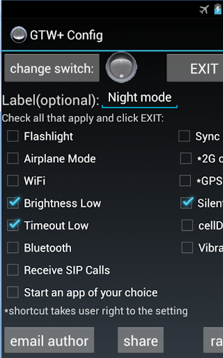 Generic Toggle Widget+