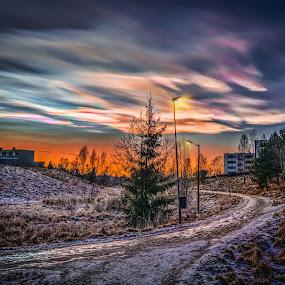 Askim, Norway 120 (Polar stratospheric clouds - Pearlescent clouds) by IP Maesstro - City,  Street & Park  Night ( clouds, polar, winter, ip maesstro, hdr, sunset, stratospheric, sunrise, askim, pearlescent, norway, , #GARYFONGDRAMATICLIGHT, #WTFBOBDAVIS )
