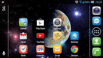 Screenshot of Moon in Color Live Wallpaper