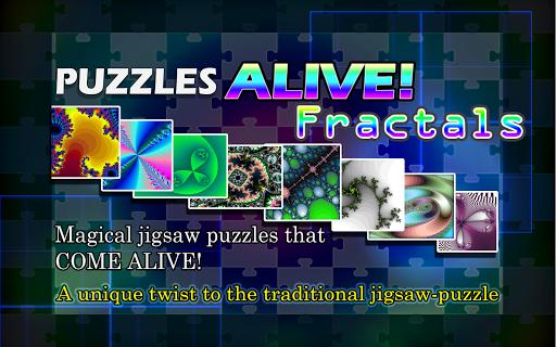 Animated Jigsaw Fractals Free