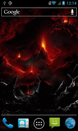 Explosion of volcano LWP