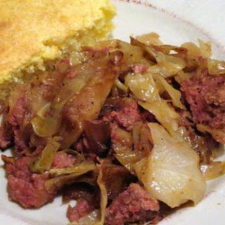 Fried Cabbage and Corned Beef