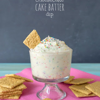 Cheesecake Cake Batter Dip