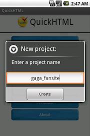 QuickHTML Screenshot 2