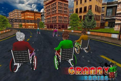 Granny Racing 3D Fun Game